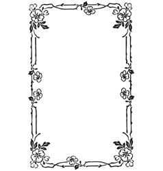 Art nouveau Frame vector image vector image