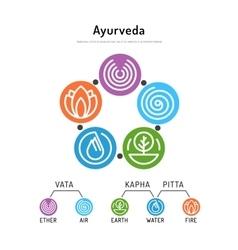 Ayurveda body types 01 vector