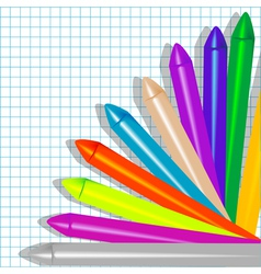 background with crayons2 vector image vector image
