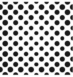 big halftone circles seamless pattern halftone vector image vector image