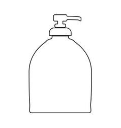 Bottle of liquid soap black color icon vector