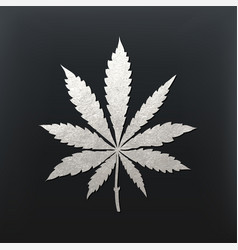cannabis leaf vector image vector image