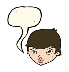 cartoon unimpressed woman with speech bubble vector image