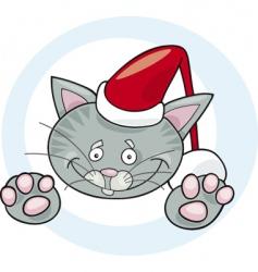 cat Santa vector image