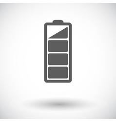 Charging the battery flat single icon vector