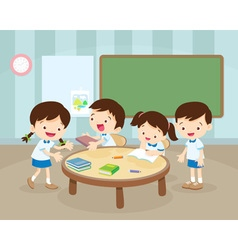 Childrens activity in room vector