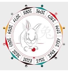 Chinese zodiac rabbit vector