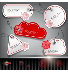 christmas label set vector image