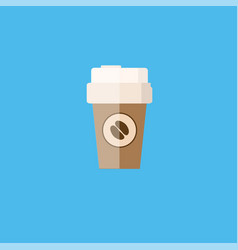 Coffee cup icon with coffee beans logo vector