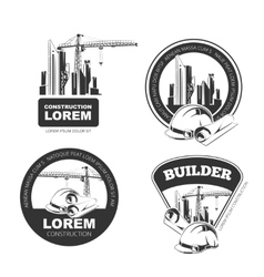 Construction Emblems vector image
