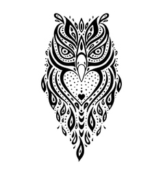 Decorative owl ethnic pattern vector