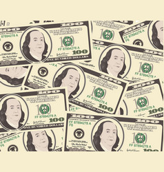 dollar background vector image vector image