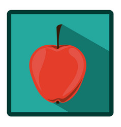 emblem apple icon image vector image vector image