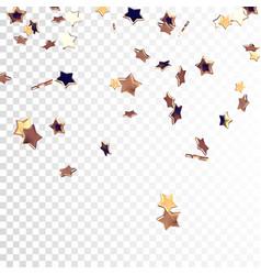 falling golden stars vector image