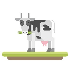 Farm animal cow flat style vector