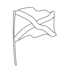 Flag of scotland icon in outline style isolated on vector