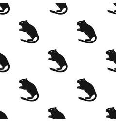 Gray gerbilanimals single icon in black style vector