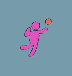 Icon of vollyball on color background eps-10 in vector