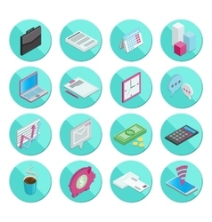 Isometric flat style design colorful business and vector image