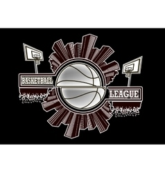 Logo basketball league vector