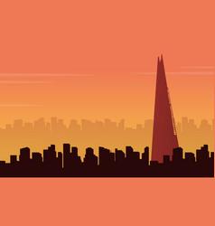 london city building scenery vector image vector image