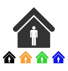 Man toilet building icon vector