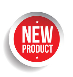 New Product sticker red vector image vector image