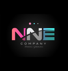 nne n n e three letter logo icon design vector image