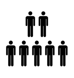 people icon - group of men team symbol vector image