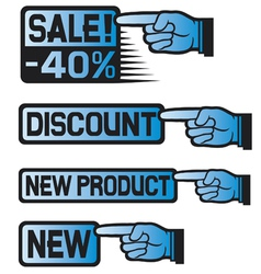 Price Tag Set-sales finger vector image