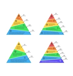 Pyramid layers chart infographic elements vector