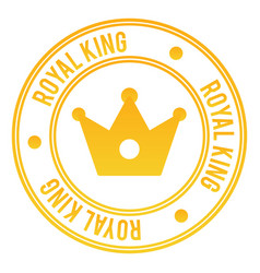Royal king stamp vector