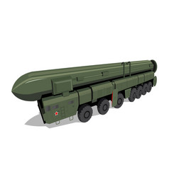Russian mobile ballistic missile system vector