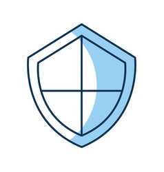 security shield isolated icon vector image
