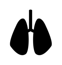 set of human lungs icon image vector image