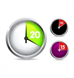 set of timers vector image