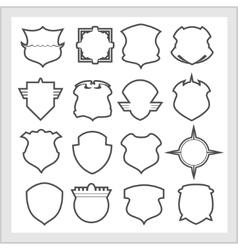 Shield frames icons set - vintage heraldic shields vector image vector image