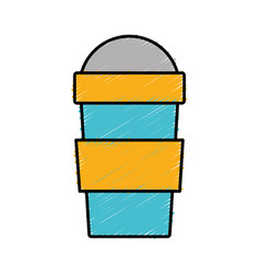 Smoothie drink cup icon vector