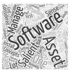 Software asset management word cloud concept vector