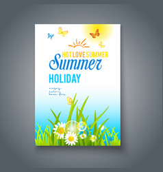 Summer nice day card vector