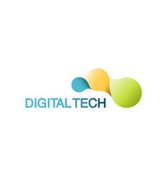 template logo for digital technology vector image