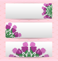 Three templates of horizontal banners vector