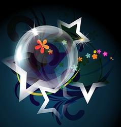 transparent bubble vector image