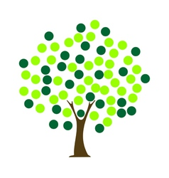 tree dot vector image vector image