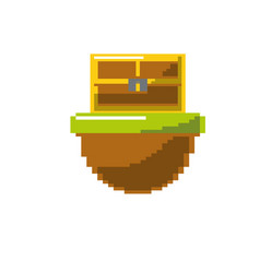video game treasure chest in the digital platform vector image