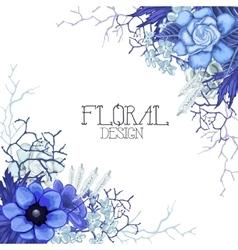Vintage floral card vector