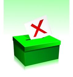 Vote boxe vector