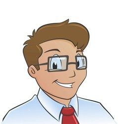 Young office worker vector