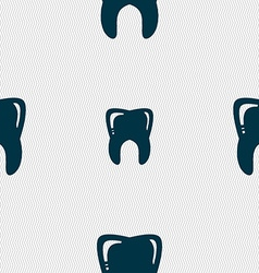 Tooth sign seamless pattern with geometric texture vector