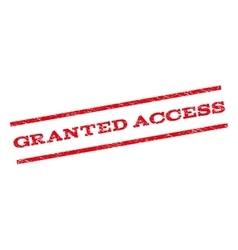 Granted access watermark stamp vector